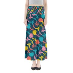 Colorful Floral Pattern Women s Maxi Skirt