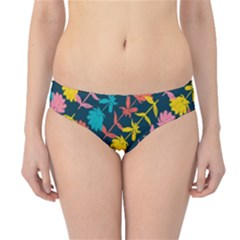 Colorful Floral Pattern Hipster Bikini Bottoms