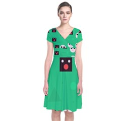 Audience  Short Sleeve Front Wrap Dress