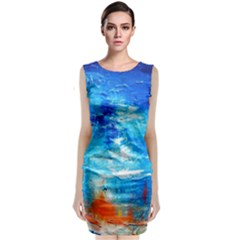 Wild sea themes art prints Classic Sleeveless Midi Dress