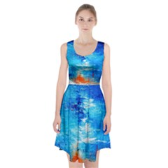 Wild sea themes art prints Racerback Midi Dress