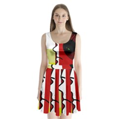 Secret Split Back Mini Dress