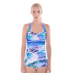 Seascap124 Boyleg Halter Swimsuit