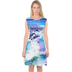 Seascap124 Capsleeve Midi Dress