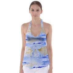 Sea Sky Print  Babydoll Tankini Top