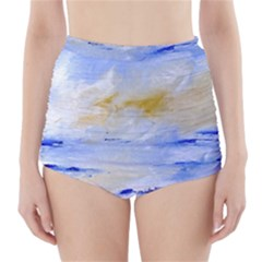 Sea sky print  High-Waisted Bikini Bottoms