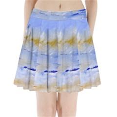 Sea sky print  Pleated Mini Skirt