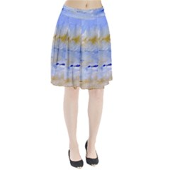 Sea Sky Print  Pleated Skirt
