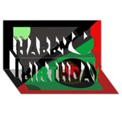 Billiard  Happy Birthday 3D Greeting Card (8x4)