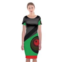 Billiard  Classic Short Sleeve Midi Dress