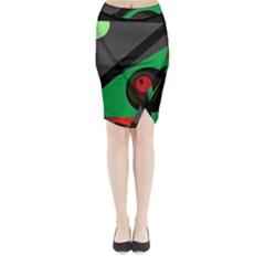 Billiard  Midi Wrap Pencil Skirt