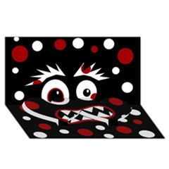 Madness  Twin Heart Bottom 3D Greeting Card (8x4)