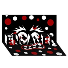 Madness  ENGAGED 3D Greeting Card (8x4)