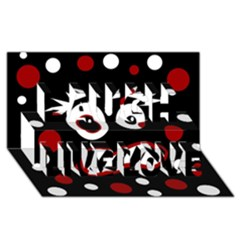 Madness  Laugh Live Love 3D Greeting Card (8x4)