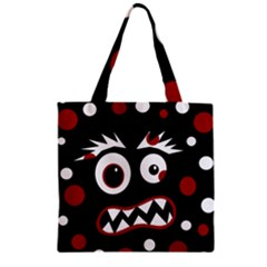 Madness  Zipper Grocery Tote Bag