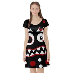 Madness  Short Sleeve Skater Dress