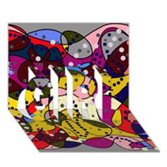 New Year GIRL 3D Greeting Card (7x5)