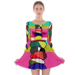 Zen Long Sleeve Skater Dress