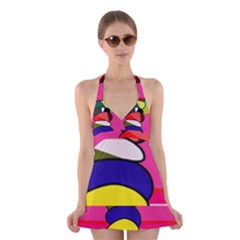 Zen Halter Swimsuit Dress