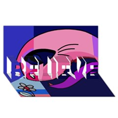 Strange love BELIEVE 3D Greeting Card (8x4)