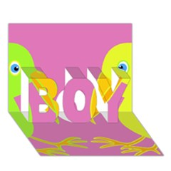 Parrots BOY 3D Greeting Card (7x5)