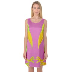 Parrots Sleeveless Satin Nightdress