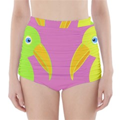 Parrots High-Waisted Bikini Bottoms