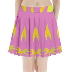 Parrots Pleated Mini Skirt