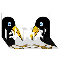 Ravens PARTY 3D Greeting Card (8x4)