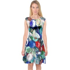 Random Baubles Capsleeve Midi Dress