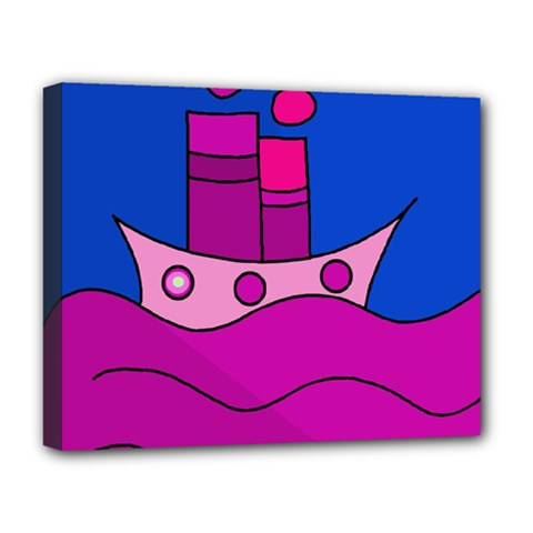 Boat Deluxe Canvas 20  x 16