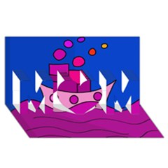 Boat MOM 3D Greeting Card (8x4)