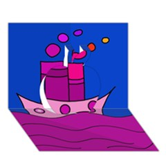 Boat Apple 3D Greeting Card (7x5)