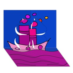 Boat Clover 3D Greeting Card (7x5)