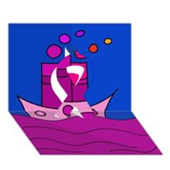 Boat Ribbon 3D Greeting Card (7x5)