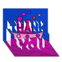 Boat THANK YOU 3D Greeting Card (7x5)