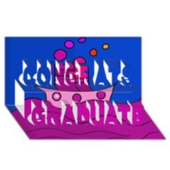 Boat Congrats Graduate 3D Greeting Card (8x4)