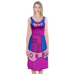 Boat Midi Sleeveless Dress