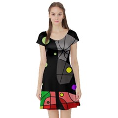 Optimistic decor Short Sleeve Skater Dress