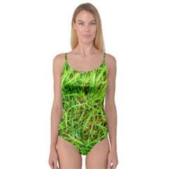 Natures grass and shamrock print  Camisole Leotard
