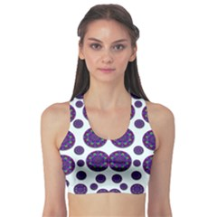 Shimmering Floral Abstracte Sports Bra