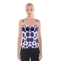 Shimmering Floral Abstracte Spaghetti Strap Top