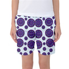 Shimmering Floral Abstracte Women s Basketball Shorts
