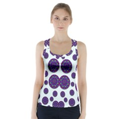 Shimmering Floral Abstracte Racer Back Sports Top