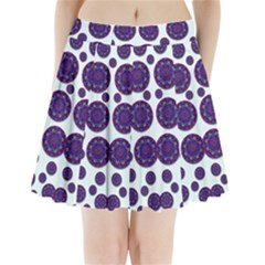 Shimmering Floral Abstracte Pleated Mini Skirt
