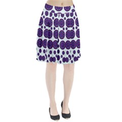 Shimmering Floral Abstracte Pleated Skirt