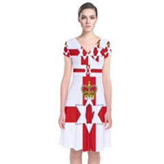 Ulster Banner Short Sleeve Front Wrap Dress