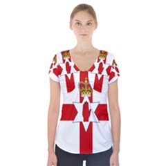 Ulster Banner Short Sleeve Front Detail Top