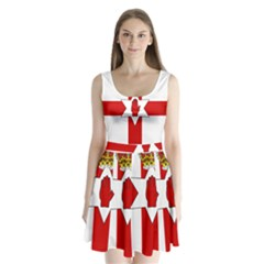 Ulster Banner Split Back Mini Dress