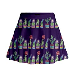 Cute Cactus Blossom Mini Flare Skirt